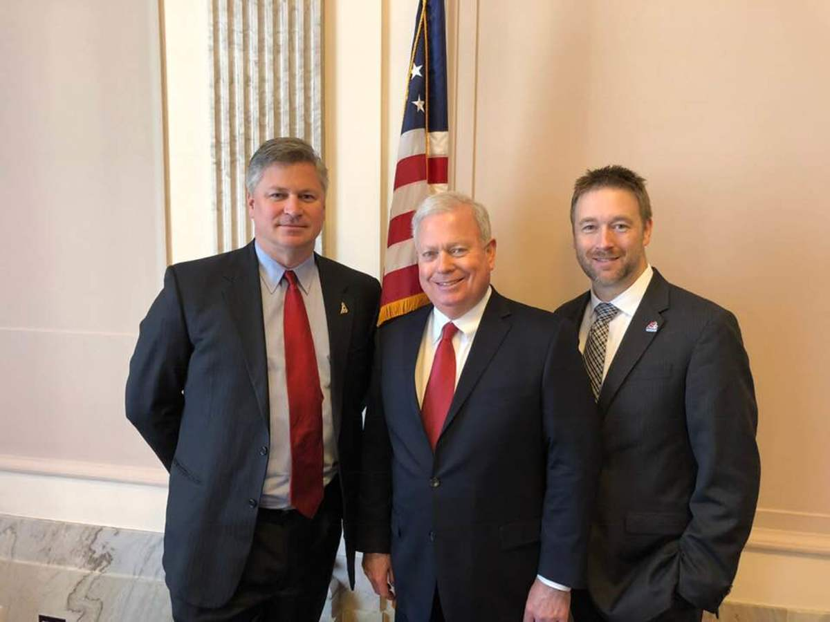 (From left) Chris Edmonston of BoatUS, Thom Dammrich of NMMA and Matt Gruhn of MRAA, spoke to members of Congress about issues facing the industry.