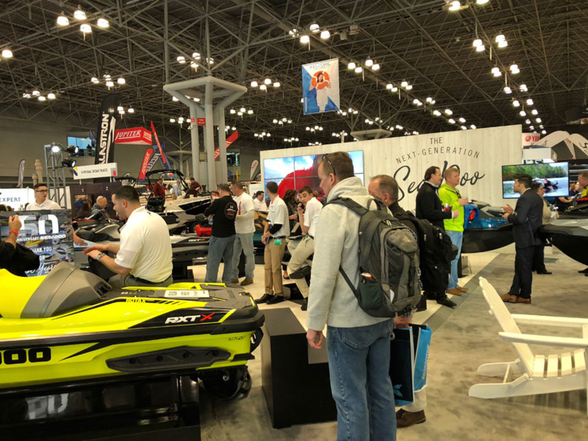 Attendance at the New York Boat Show was down slightly, but exhibitors reported quality buyers, sales and leads.