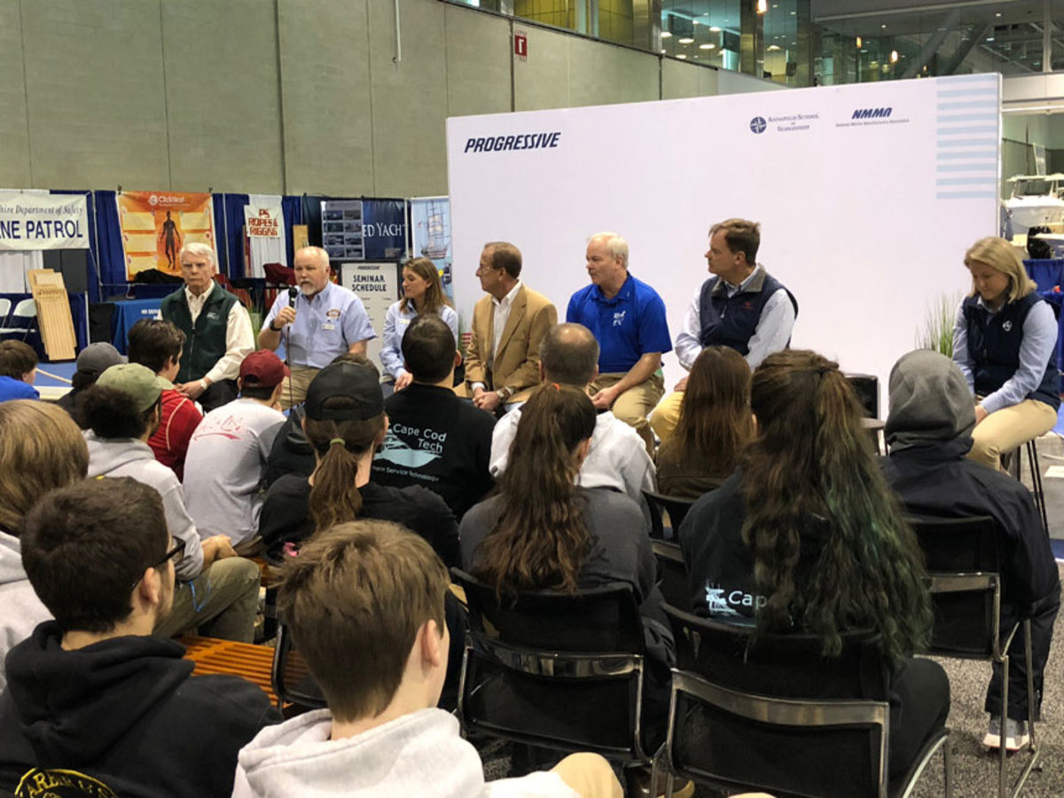 A career day, which was hosted by the Progressive International Boat Show for the first time, drew more than 90 students.