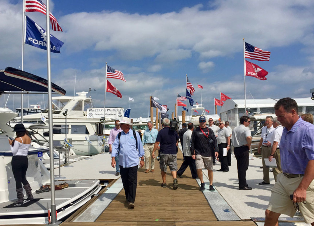 This year's Progressive Miami International Boat Show will feature 25 percent more boats in the water than last year.