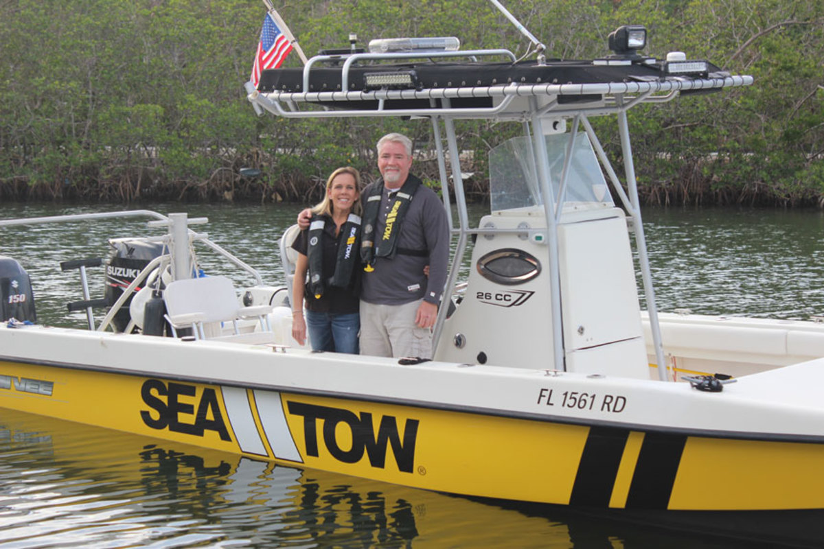 Sea Tow Key Largo owners Cheryl and Steve Powers celebrate their 25th anniversary.