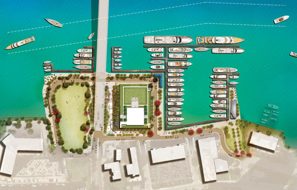 The key to the new Las Olas Marina will be a flexible slip system that can accommodate a variety of boat sizes.