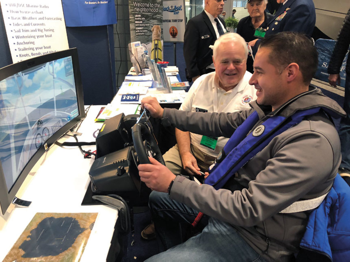 Hands-on simulators were a hit with show visitors.