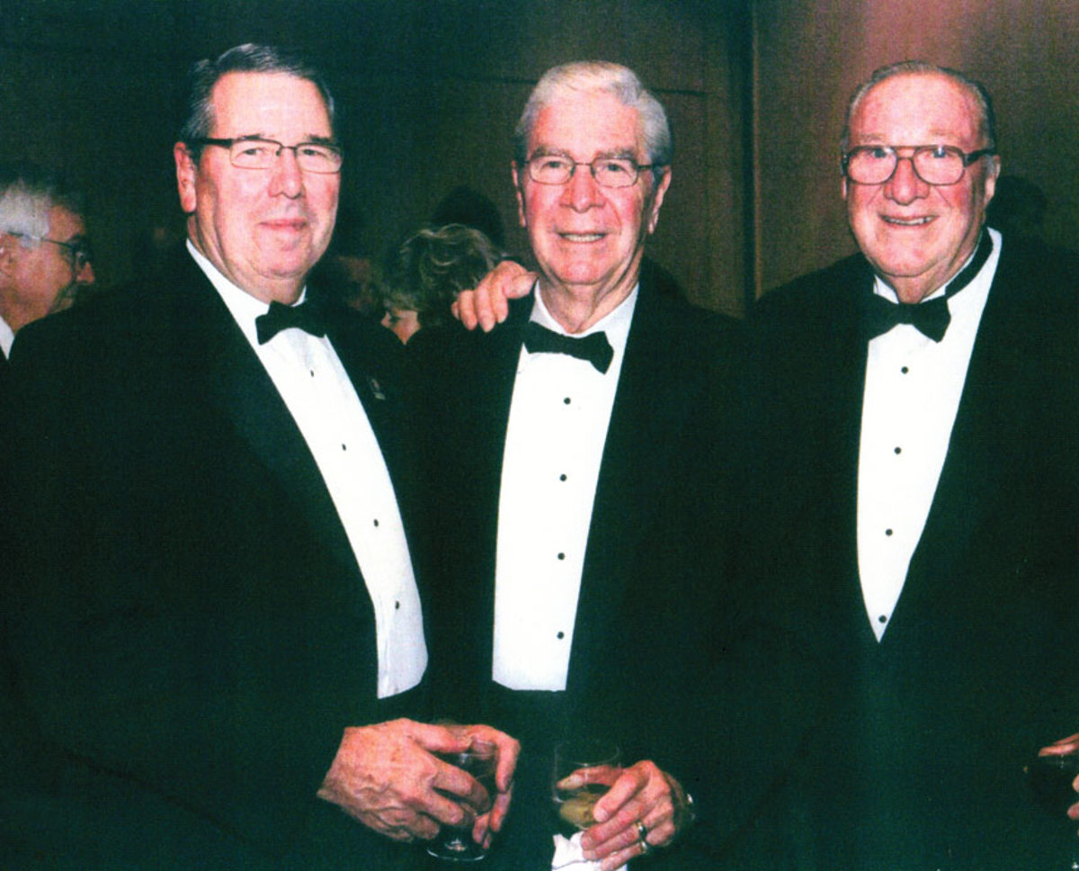 From left, industry icons Larry Russo, former MRAA president Phil Keeter and Don Galey.