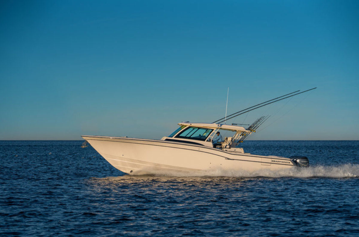 Grady White unveiled its new flagship, the Canyon 456 at Miami on Wednesday.