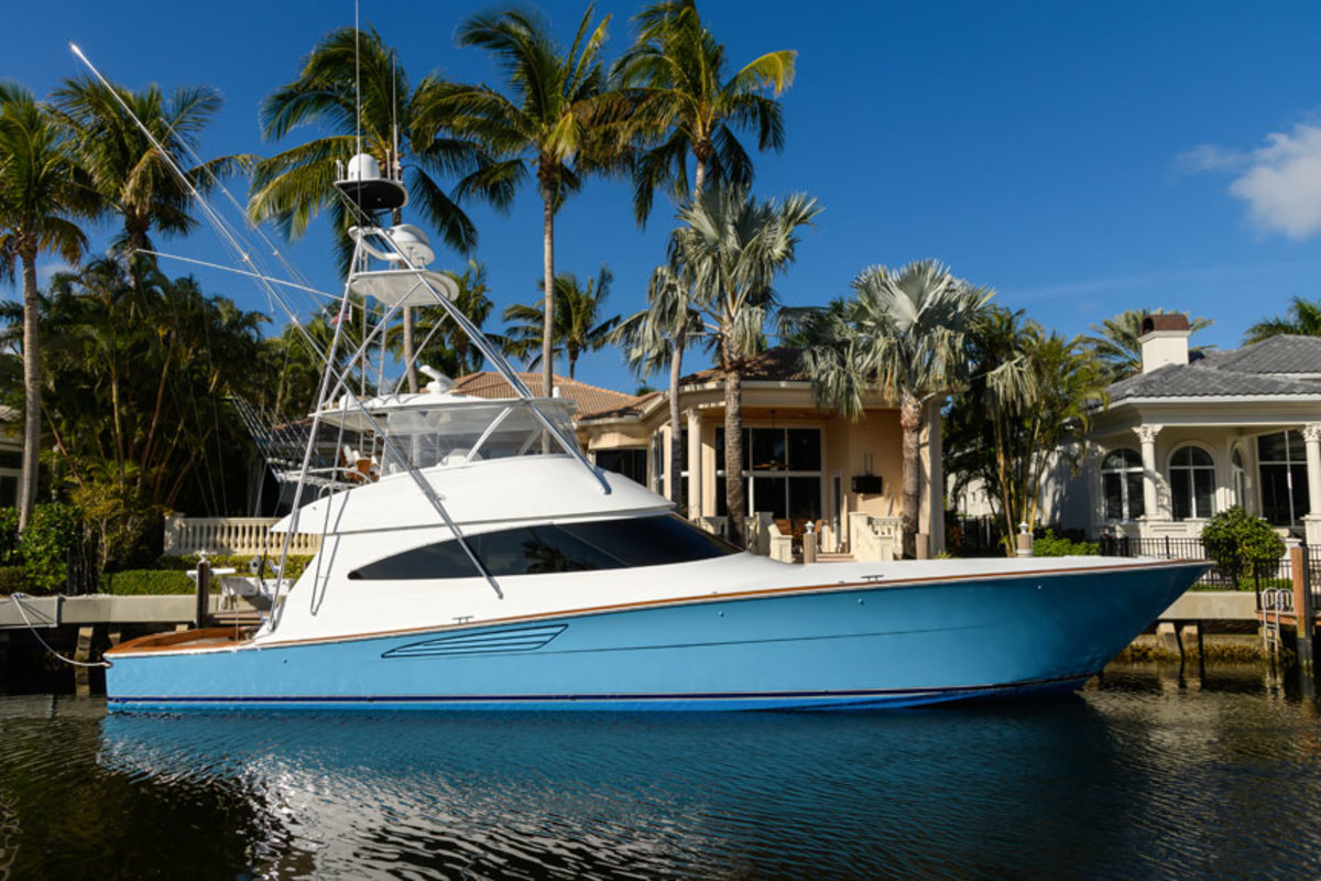 The Viking 68 Convertible is one of two new models making their debuts at the Miami Yacht Show this week.