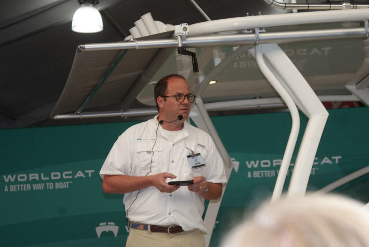Wyatt Lane introduced the new World Cat 280 DC-X.