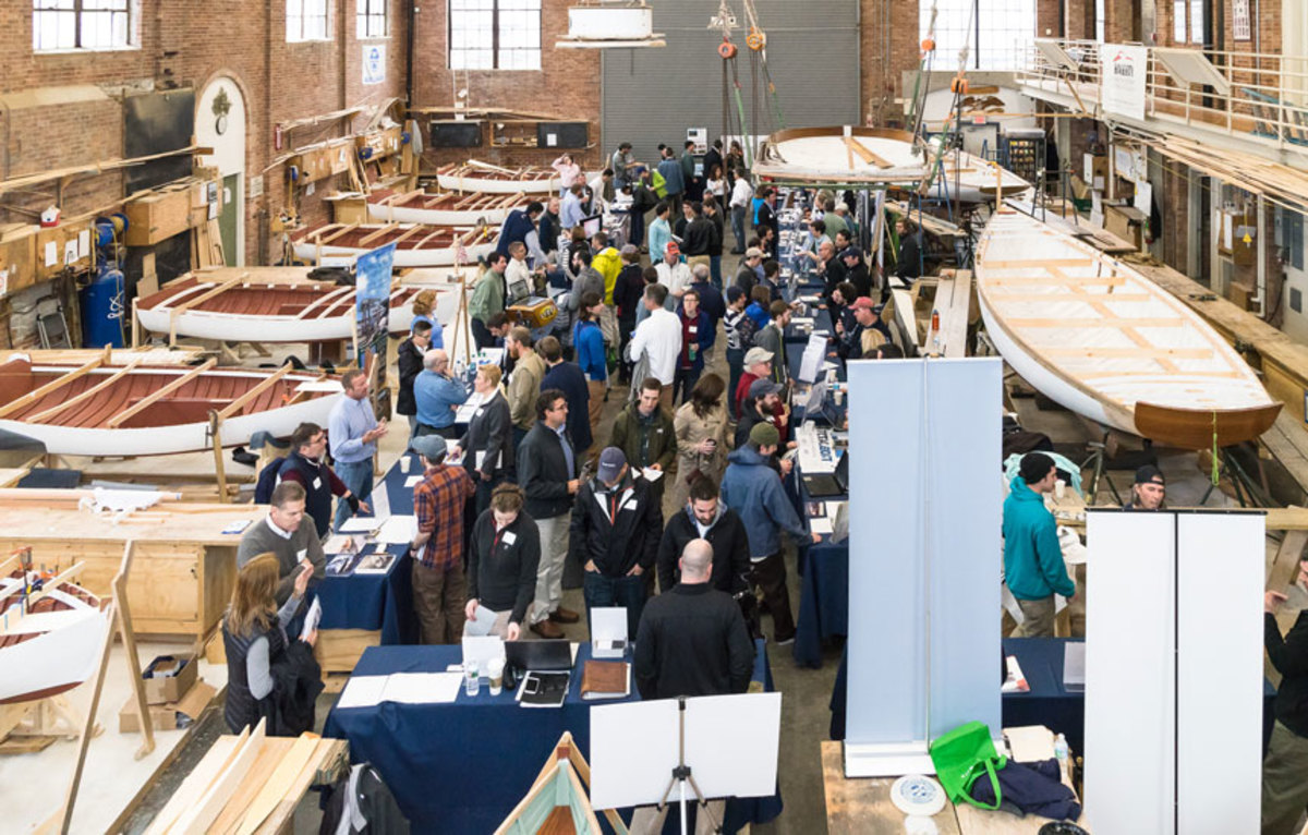 Last year's career day draw a good crowd of potential marine-industry workers
