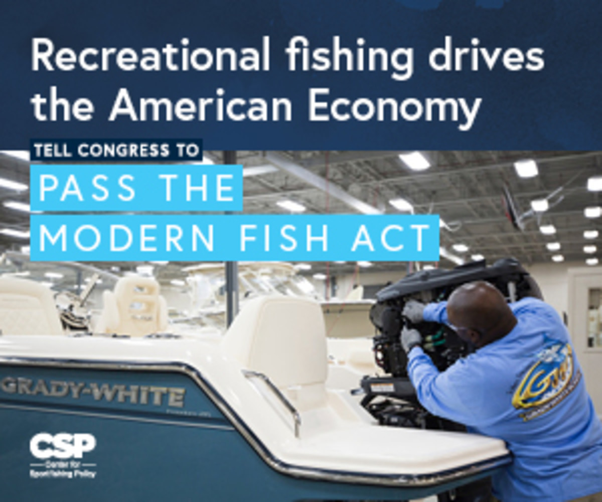 The marine industry supports passage of the modern fish act.