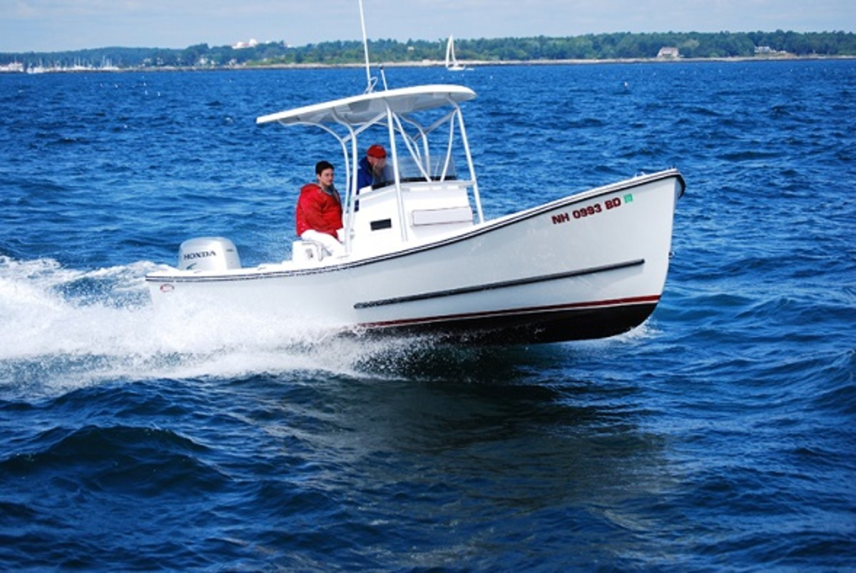 The Eastern 22 is a popular model with classic Downeast styling.
