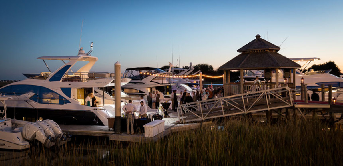 MarineMax has grown to 63 locations during its 20 years as a boat retail chain. Shown here is an event at MarineMax Wrightsville Beach in North Carolina.