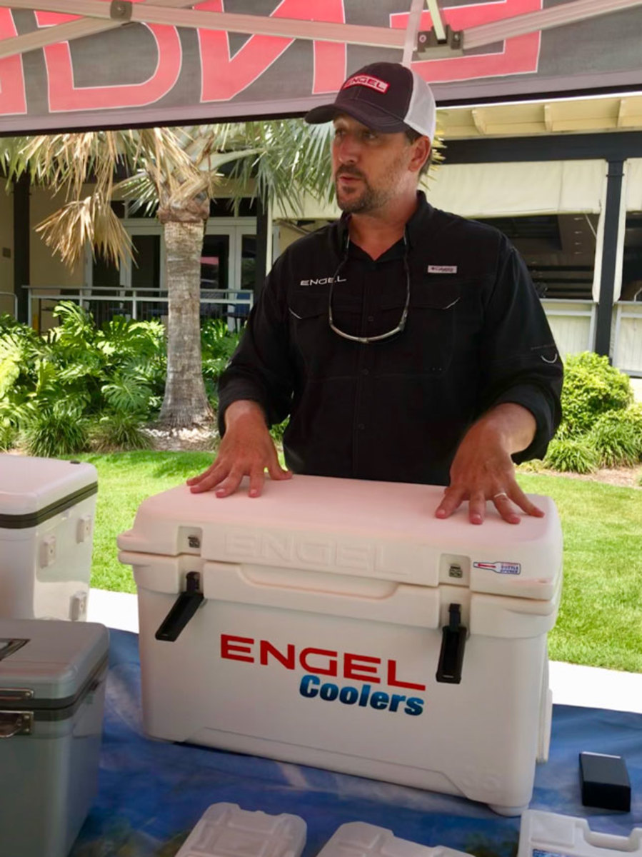Engel showed off its rotomolded coolers designed to reduce waste.