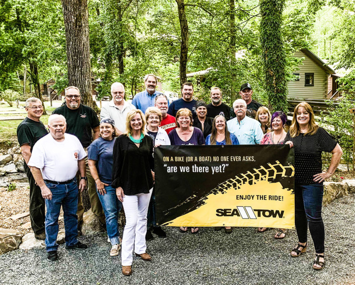 Sea Tow sponsored the Dragon's Roar Celebration Steak Dinner at the Friday night finale.