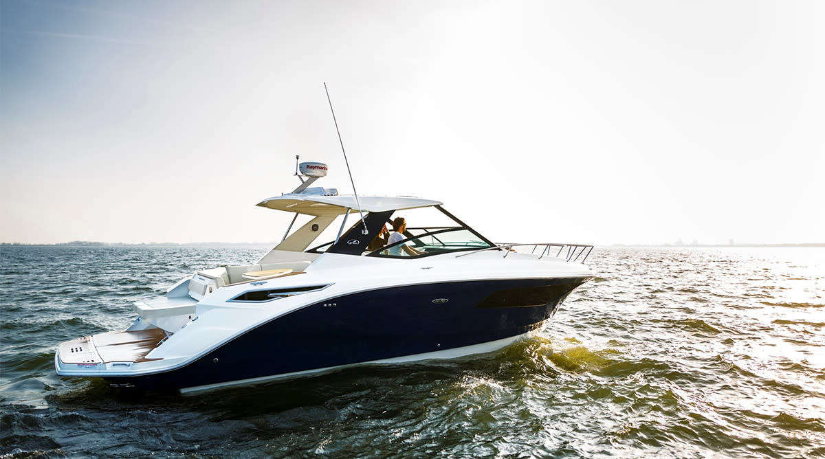 Sea Ray's 320 Sundancer is one of the company's new models.