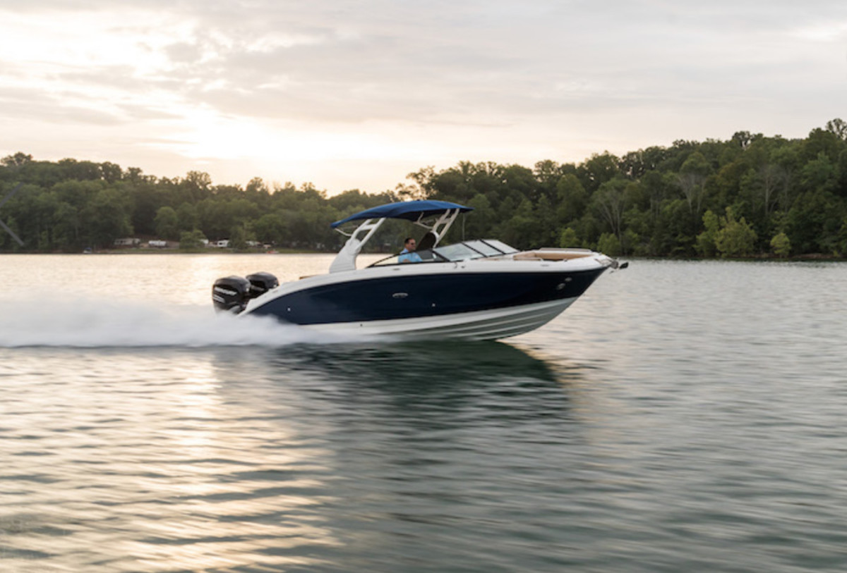 Sea Ray is focused on producing models under 40 feet, such as the SDX 290 OB.