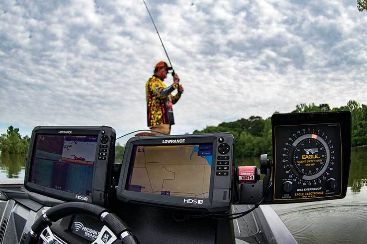 Professional anglers like David Fritts are using the latest electronics along with proven old-school devices to maximize possibilities for finding fish.