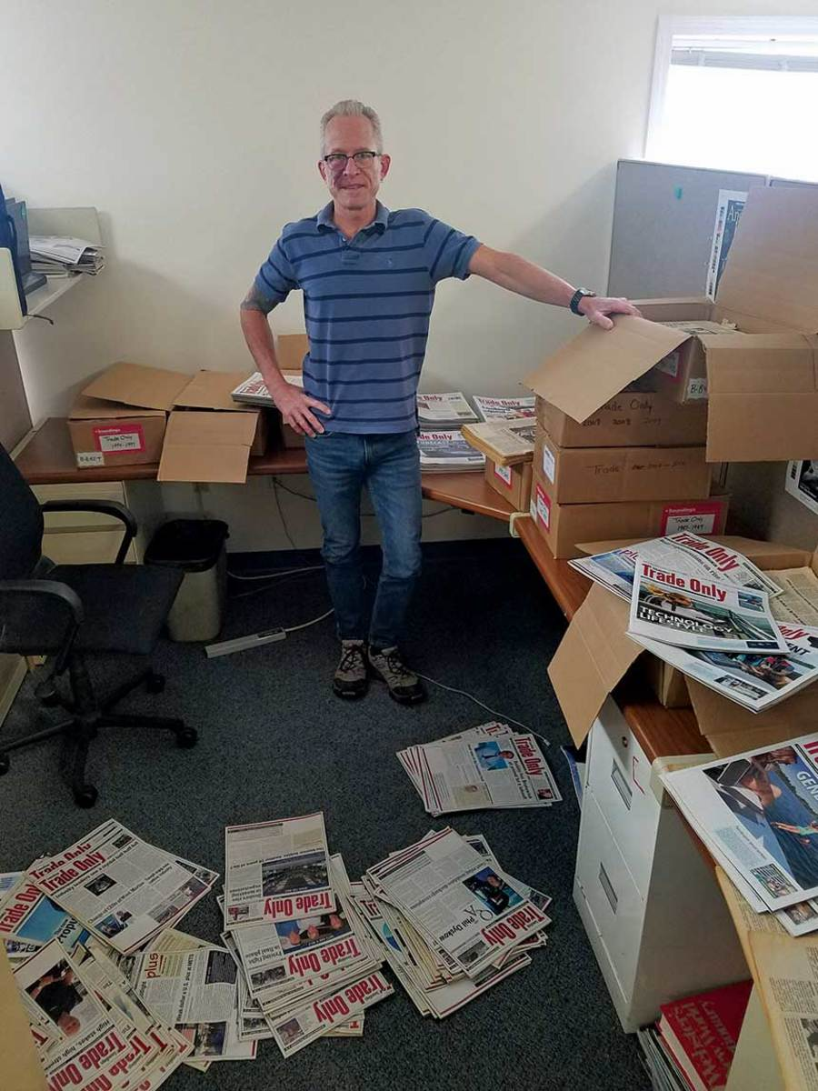 Mining history: Editor LaBella sifting through 480 issues for the best stories.