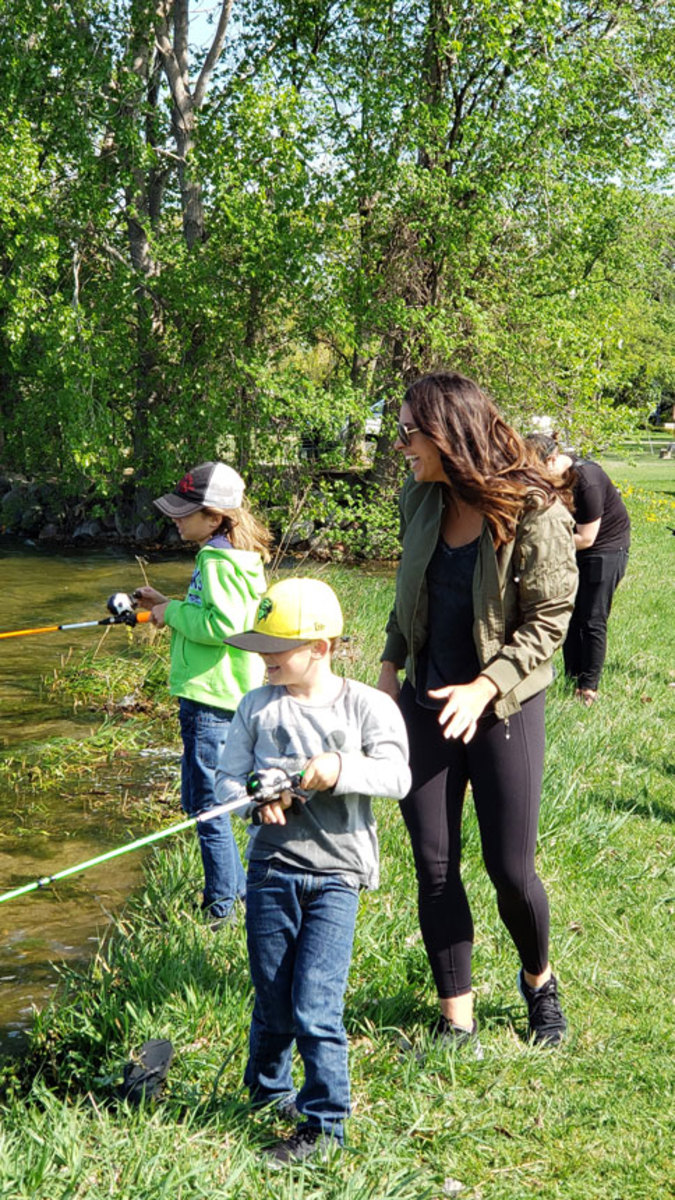 Mendoza and her kids were already avid anglers.