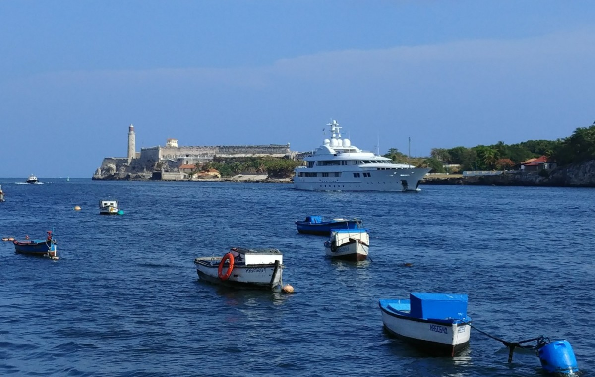 U.S.-flagged private yachts and cruise ships are banned from traveling to Cuba.