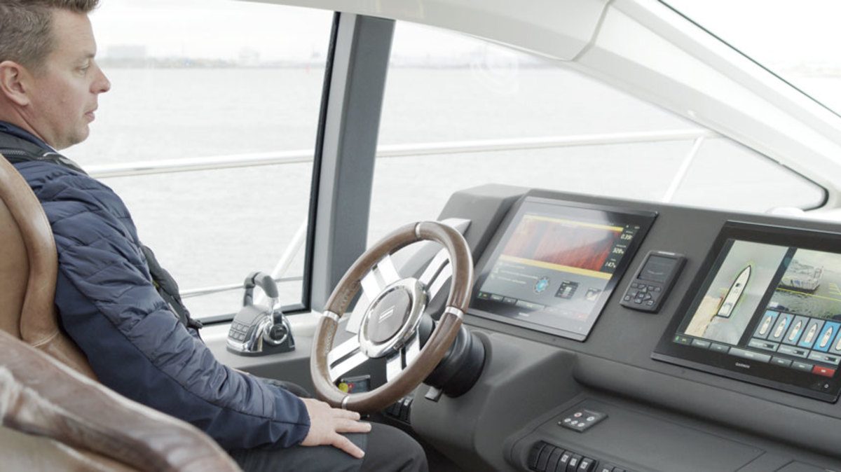 Look ma, no hands. Volvo Penta is taking steps towards making its self-docking system a reality.