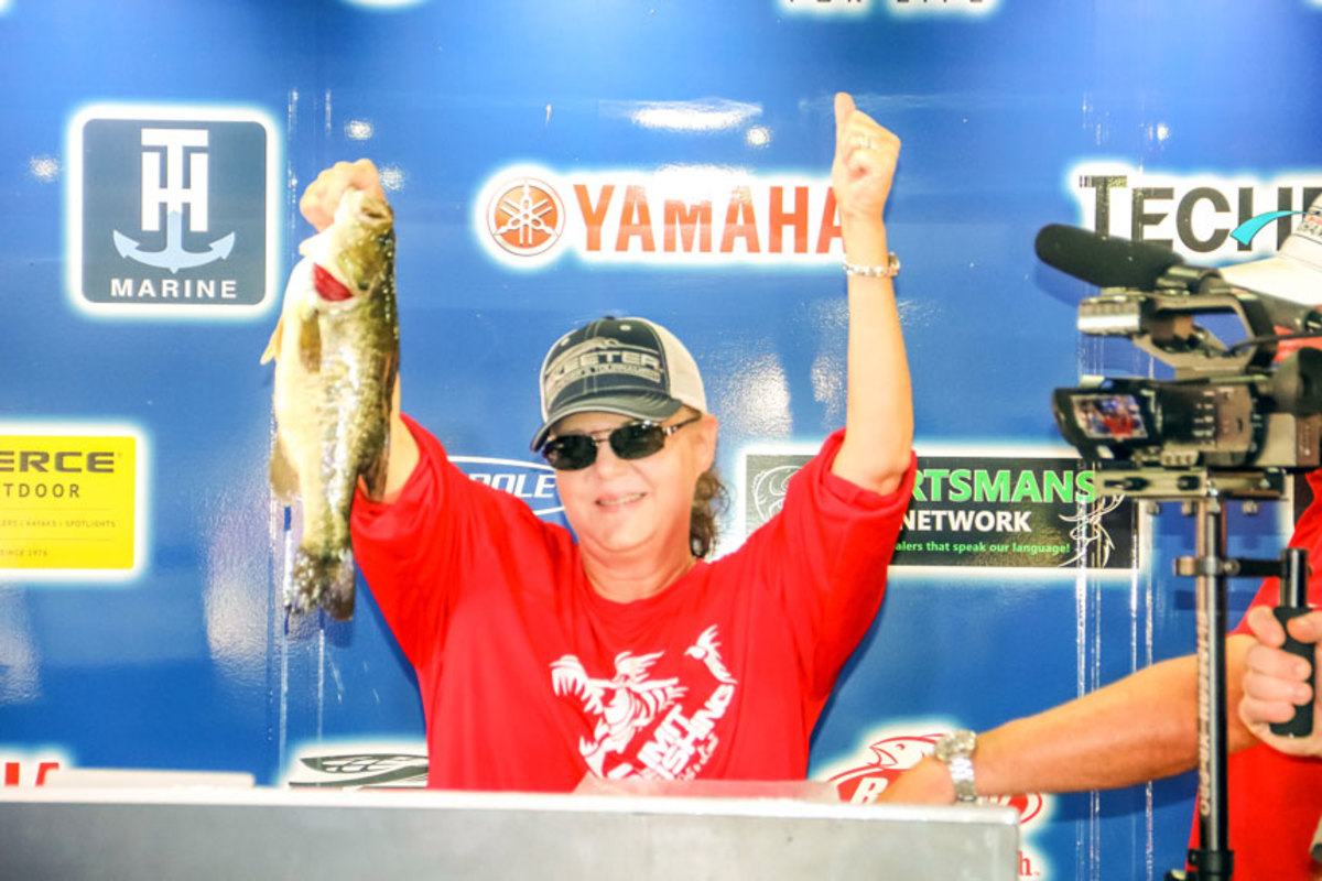 Sue Gibson took home a Yamaha Wolverine X4 SE side-by-side for her second-place effort.