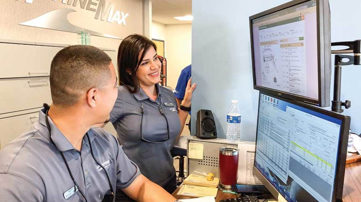 MarineMax believes that younger, more diverse employees like Sandra Montiel, a service advisor at its Pompano Beach location, will be key to growing sales.