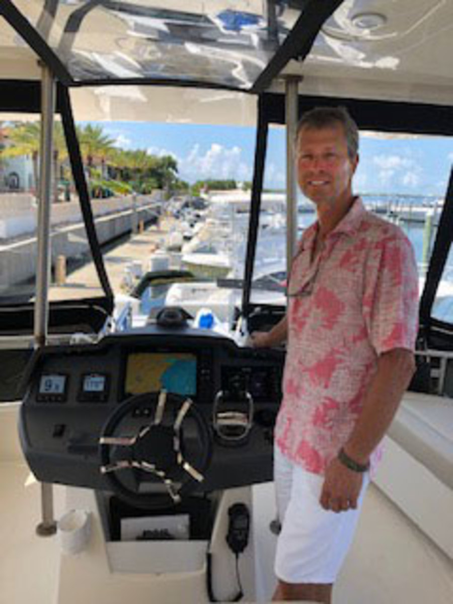 Peter Weil on his new Torqeedo-powered catamaran