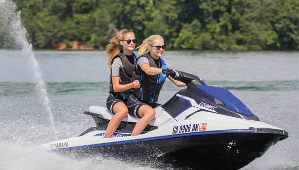 "Priced at $6,799, the entry-level Wave Runner EX was designed to ""get people out on the water,"" according to a Yamaha executive."