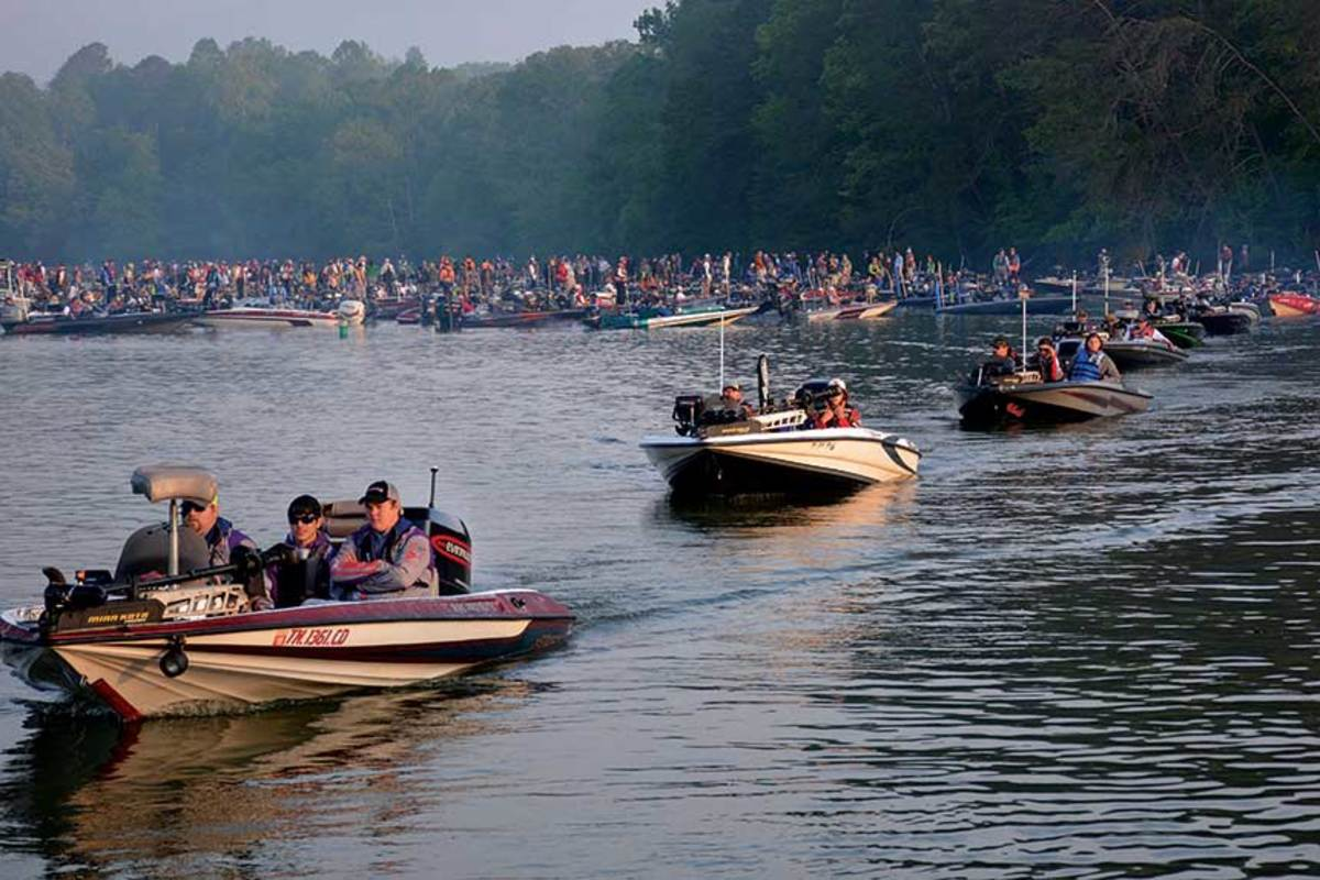 Bass fishing has exploded among college and high-school students. Tournaments average about 150 boats.