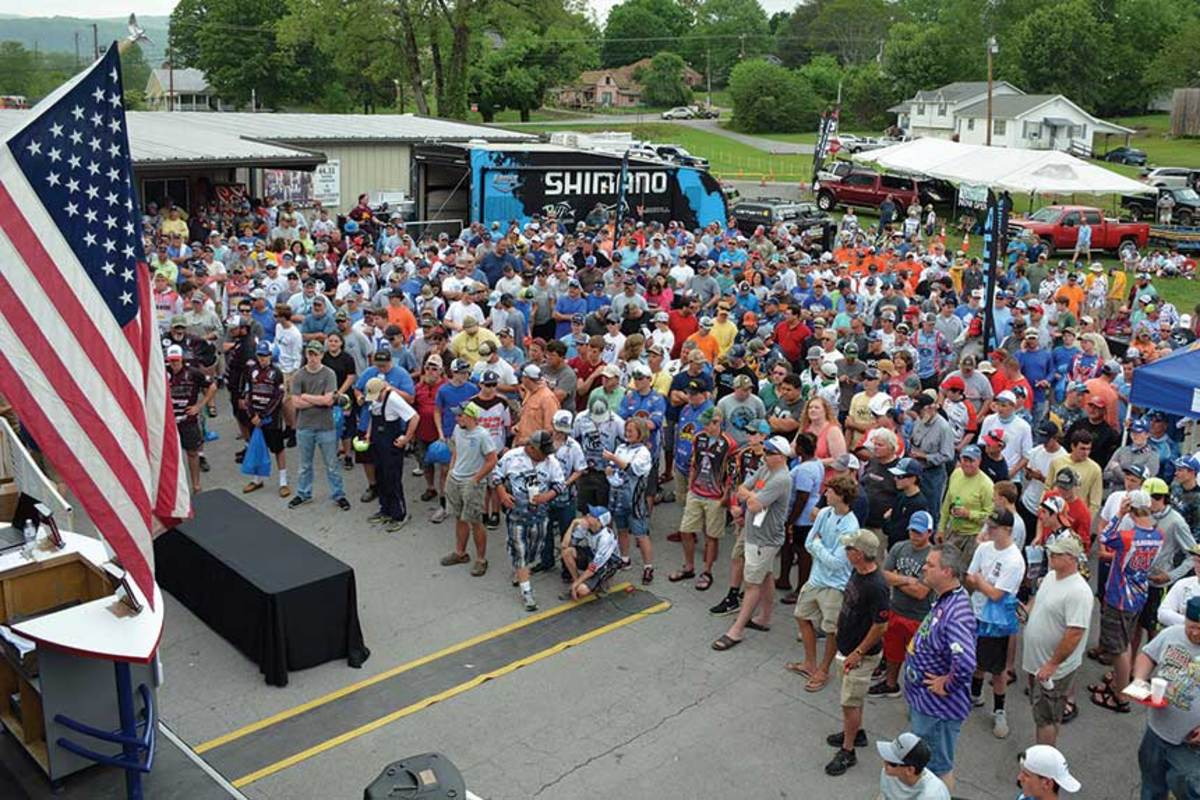 The Carhartt Bassmaster College Series Championship attracts teams from around the country.