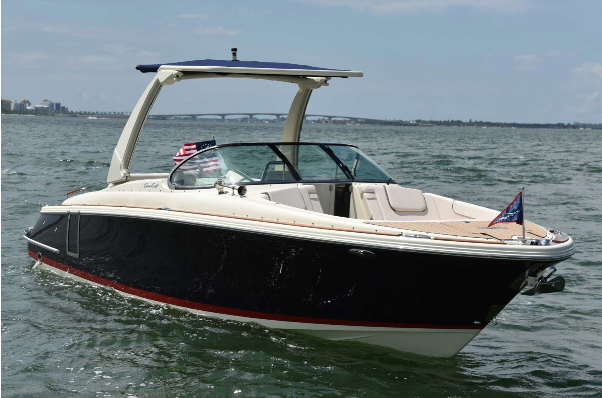 Chris-Craft released new models in the first half of 2019, including the Launch 28 GT.