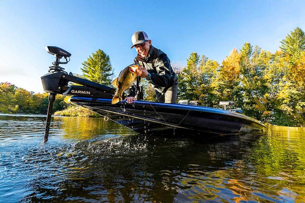 Garmin debuted its Force Trolling Motor at ICAST, which operators can control with a wireless remote using only gestures.