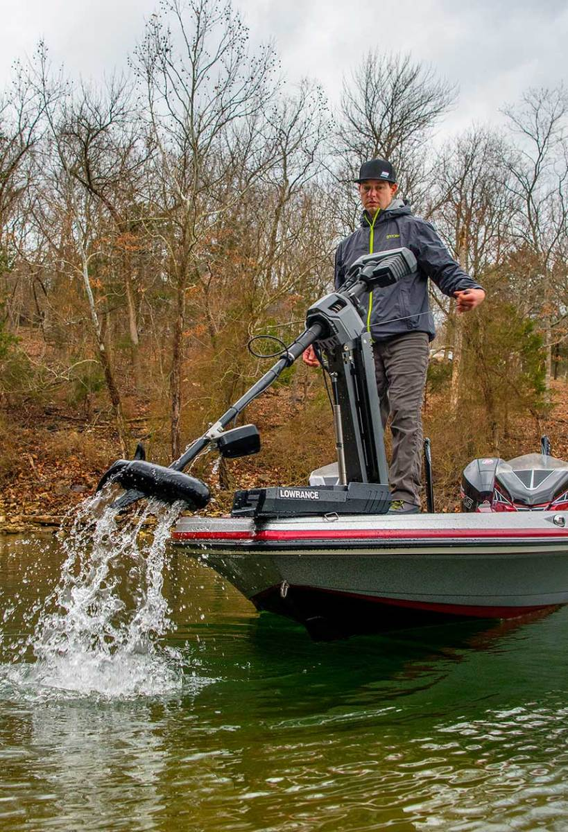 Lowrance debuted the Ghost trolling motor at the show.
