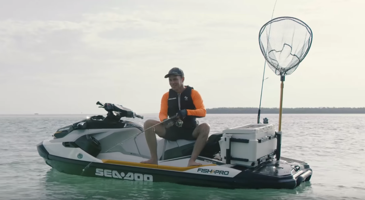 The Fish Pro is an optional upgrade for Sea-Doo watercraft.