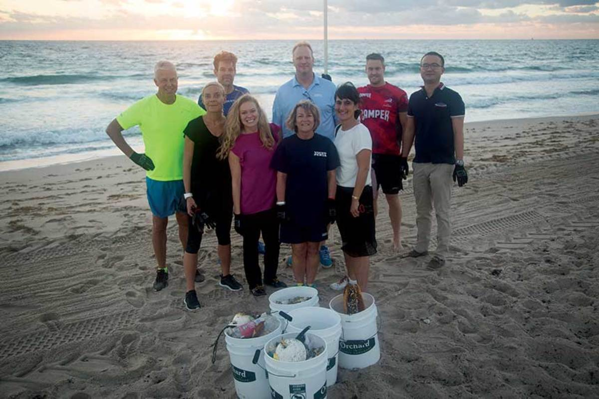 "Beach cleanups that Costa and Volvo Penta of the Americas hold are the ""last line of defense before a piece of plastic ends up in the ocean."""