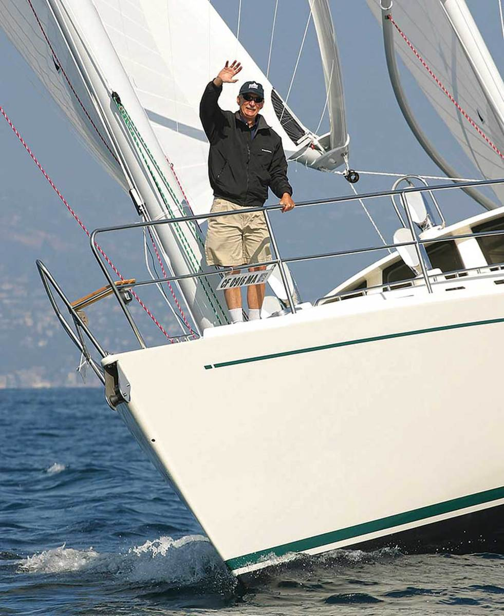 West Marine founder Randy Repass is sailing around the world with his wife and son.