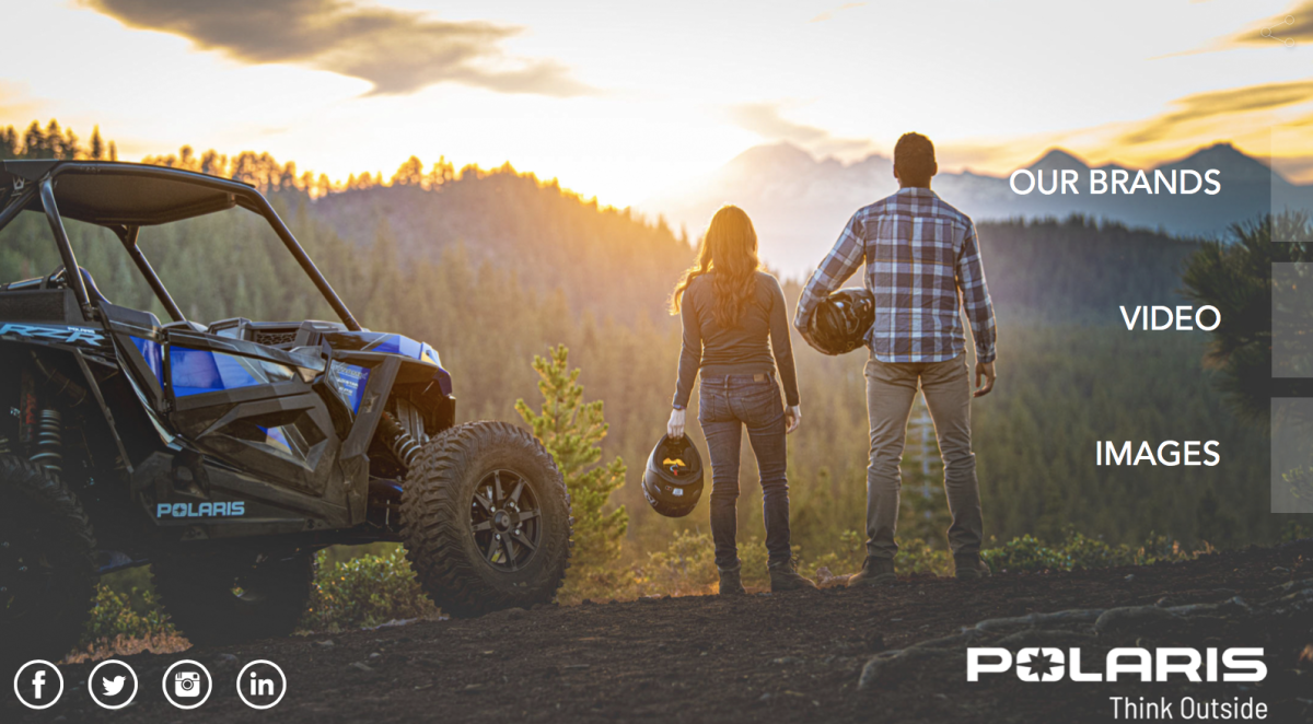 The new logo will use the outdoors to unite all 30 Polaris brands.