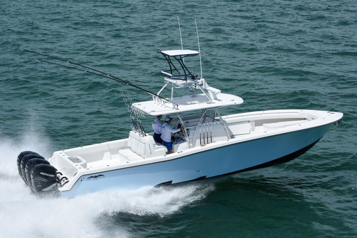 Invincible builds offshore V-bottoms and catamarans for offshore angling.