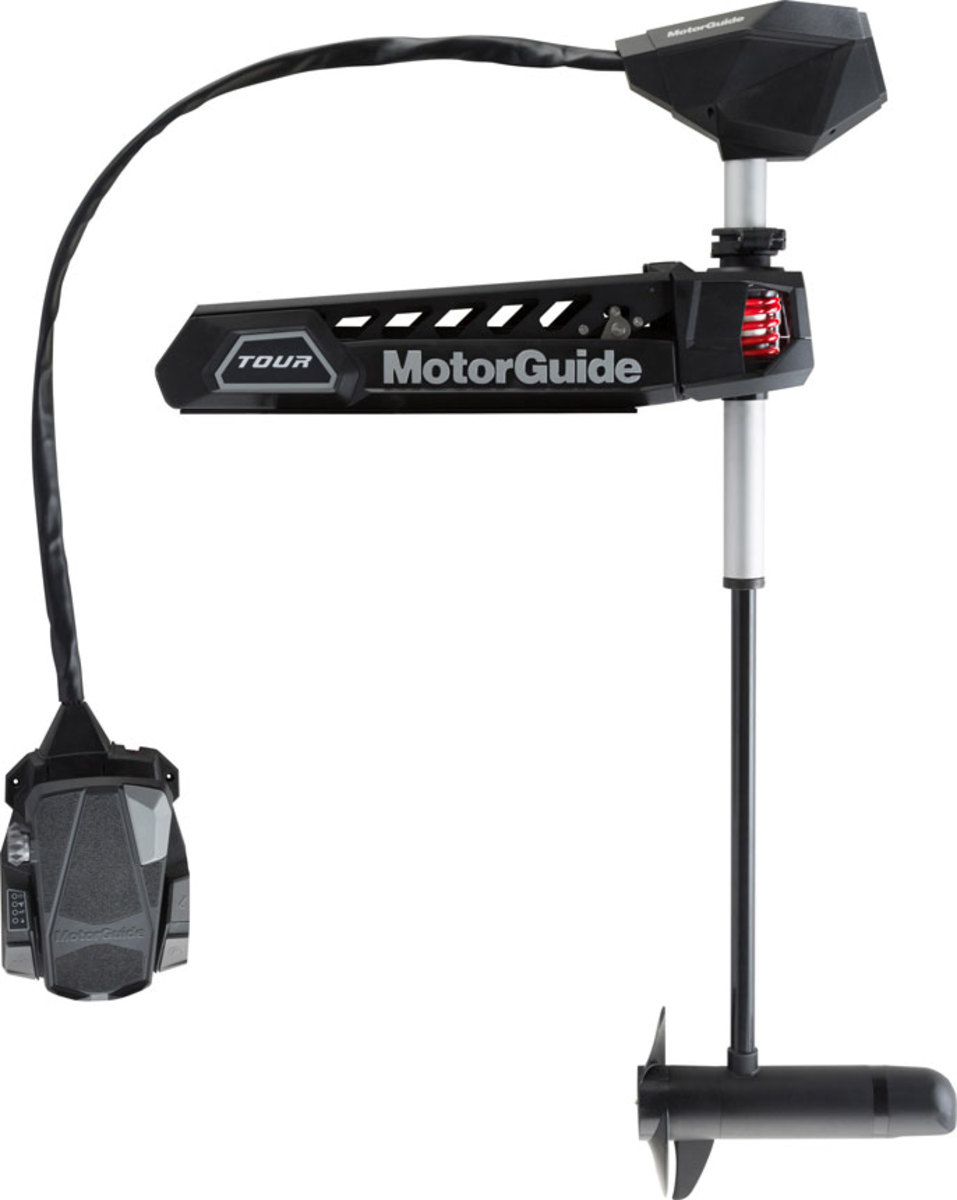 The MotorGuide Tour Pro trolling motor has sonar capability.