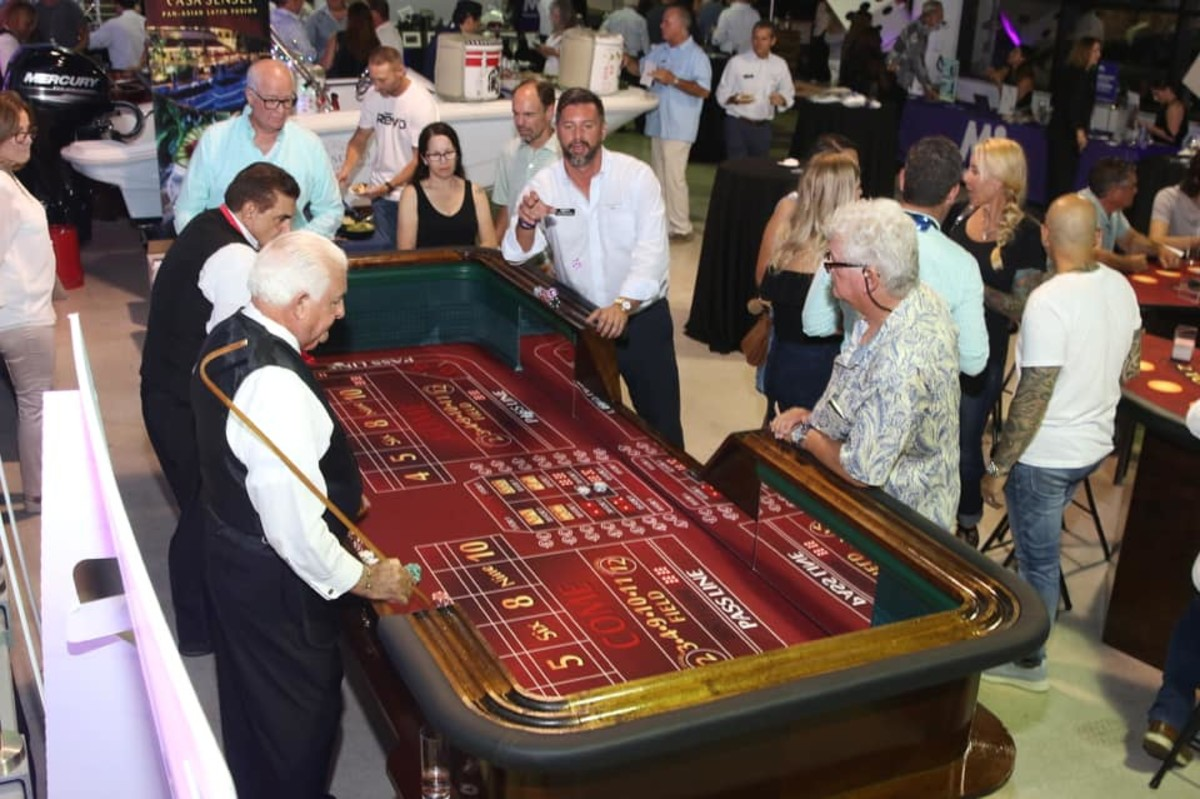 The evening included a full array of casino games.