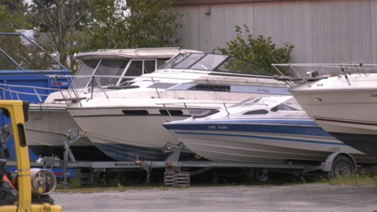 A variety of boats was seized from the dealership.