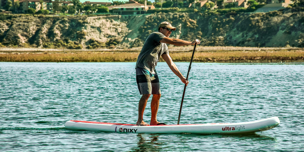Officials encourage paddleboard users to always wear a life jacket.