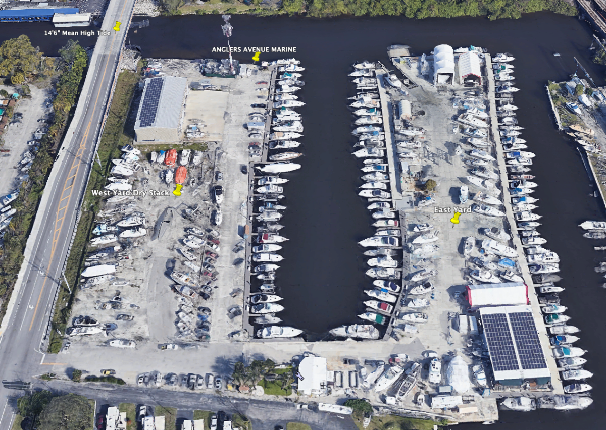 The company plans to repair and improve Anglers Marina on Dania Beach at 4470 Anglers Ave., next to InterMarine and adjacent to Sundance Marine.