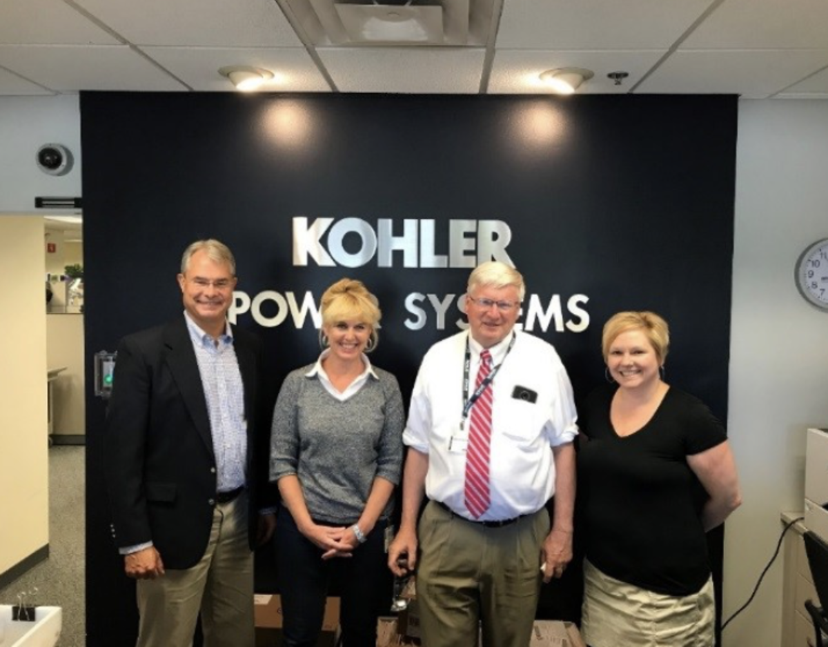 (left to right) Greg Klompenhouwer, senior product manager for Kohler Marine; Heidi Klompenhouwer, senior technical publications analyst; Congressman Glenn Grothman (R-WI-06); and Brenda Cudworth, confidential assistant.