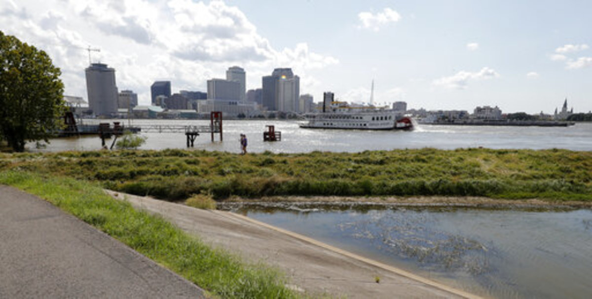 Levees on the Mississippi River have been stressed by high water levels for months. Photo courtesy of the AP.