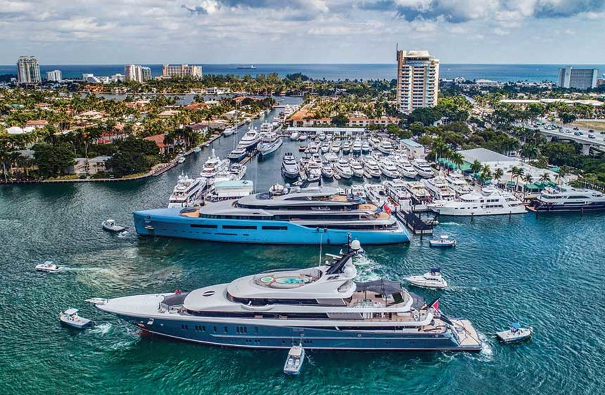 The number and size of the yachts at FLIBS continue  to expand each year.  In 2018, the show displayed  $4 billion worth of vessels. Sales were about $508 million.