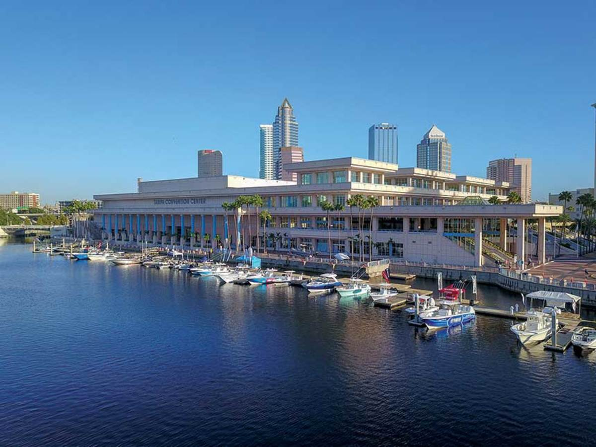 IBEX's halls were booked to capacity by August. The docks continue to attract more exhibitor boats each year.