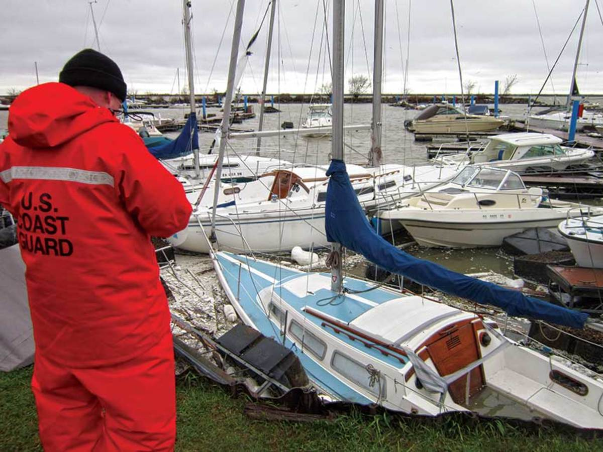 Though expensive, yards and marinas can be engineered to withstand storm surge.
