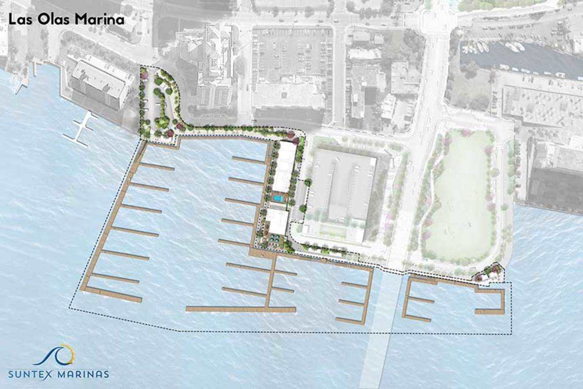 The new marina will have 68 slips that can accommodate yachts from 70 to 280 feet.