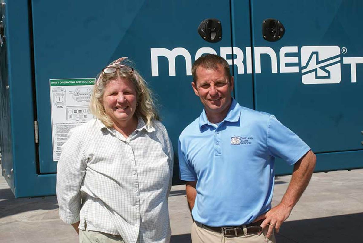 Owner Joanna Sprague and Jason Curtis, vice president of operations.